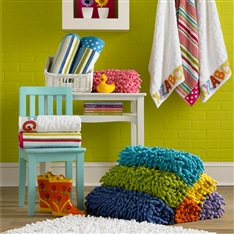 Bright Coloured Shag Bath Mats