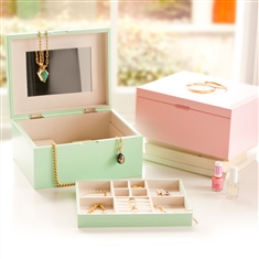 Two Wooden Jewellery Boxes