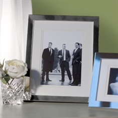 Silver Photo Frame With Double Mount