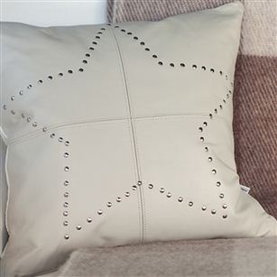 Leather cushion studded leather star au maison for Au maison cushion