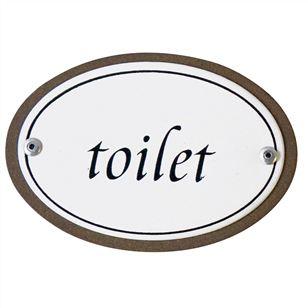 Vintage Style Enamel Toilet Sign Bloomingville