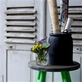 Painted Stool From Reclaimed Wood