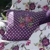Quilted Cushion Cover - Naomi Plum with Embroidery