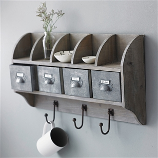 Bath & Beauty | Furniture & Storage | Reclaimed Wood Wall Unit With Steel Drawers