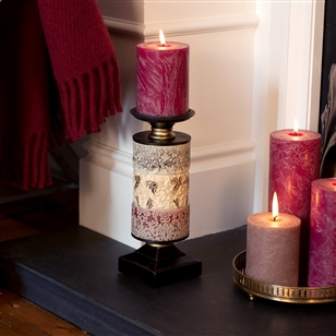 Living Room | Lighting & Candlelight | Decorative Embossed Candle Holder
