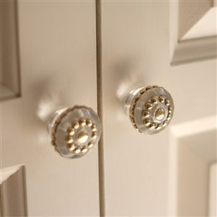kitchen dining hardware and knobs decorative drawer knobs clear with gold dots - Decorative Drawer Knobs