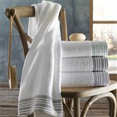 Bath Towel with Linen Trim