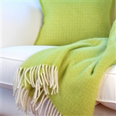 Pistachio Green Wool Throw