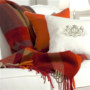 Bedroom | Throw Blankets | Luxury Patterned Wool Throw