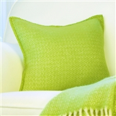 Pistachio Green Wool Cushion Cover