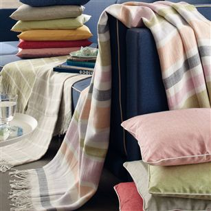 Striped Linen Throw With Fringing Jodie Byrne Sofa