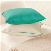 Turquoise & Oatmeal Linen Cushion Covers
