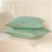 Turquoise Cushion Cover With White piping