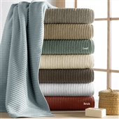 The Kensington Ribbed Bath Towel Collection