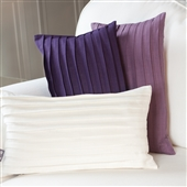 Pleated Linen Cushion With Filling