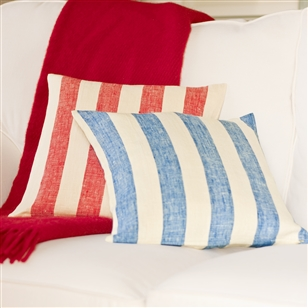 Bedroom | Scatter Cushions | Striped Linen Cushion Covers