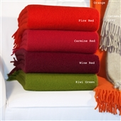 Wool Throws With Fringing