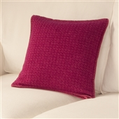 Pink Punto Wool Cushion Cover