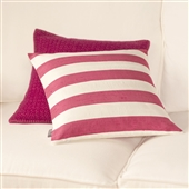 Cranberry Pink Silk Cushion Cover