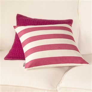 Bedroom | Scatter Cushions | Cranberry Pink Silk Cushion Cover