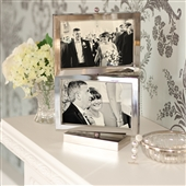 Rotating Silver Multi-Aperture Picture Frame