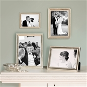 MEDIUM Beaded Silver Picture Frame