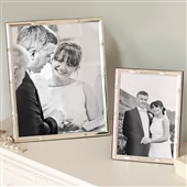 LARGE Bamboo Silver Plated Picture Frame