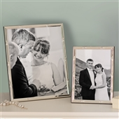 SMALL Bamboo Silver Plated Picture Frame