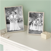 LARGE Rope Edge Silver Plated Picture Frame
