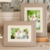 Bedroom | Picture Frames | LARGE Whitewash Wood Grey Picture Frame