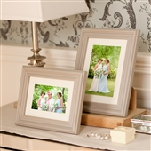 LARGE Whitewash Wood Grey Picture Frame