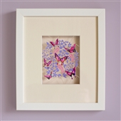 Framed Artwork Of Vibrant Butterflies