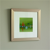 Framed Green Sailing Print