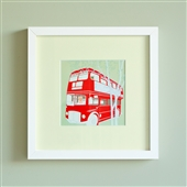 Framed Print Of Queen On A Routemaster