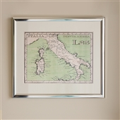 Framed Print of Postage Stamp Style Map