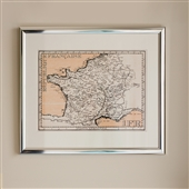 Framed Print of Postage Stamp Style Map 2