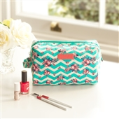 Chevron Toiletry Bag With Side Handle