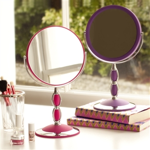 Pedestal Vanity Mirror In Pink Or Purple Jodie Byrne Vanity Mirrors