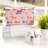 Dachshund Wash Bag in Pink