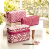 4pc Make Up And Cosmetic Case Gift Set In Pink
