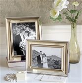 SMALL Silver Photo Frame With Rope Edge