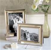 LARGE Silver Photo Frame With Rope Edge