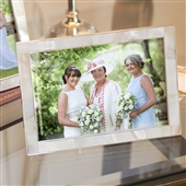 SMALL Elegant Mother Of Pearl Picture Frame