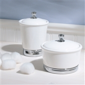Large White Ceramic Bathroom Storage Jar