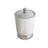 Small White Ceramic Bathroom Storage Jar