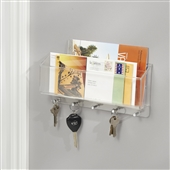 Wall Mounted Letter Rack With Key Hooks
