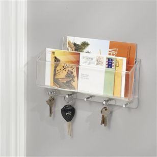 Wall Mounted Letter Rack With Key Hooks | Jodie Byrne | Artwork