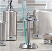 Chrome Toothbrush Holder Stand