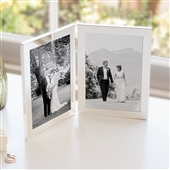 Silver Plated Double Aperture Picture Frame
